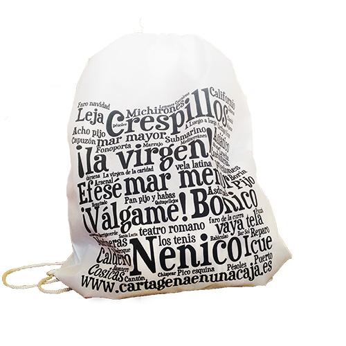 Bolsa nube palabras cartageneras