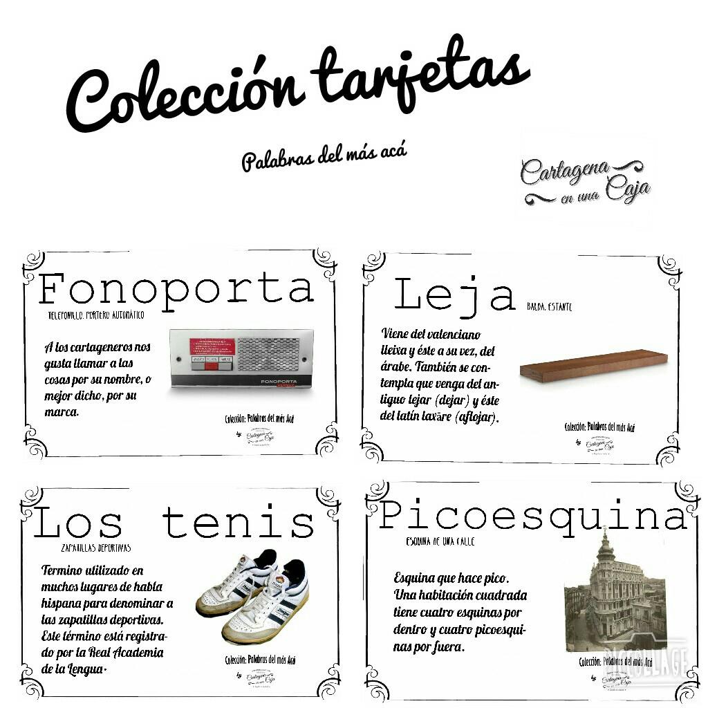 Colección tarjetas Palabras del mas aca