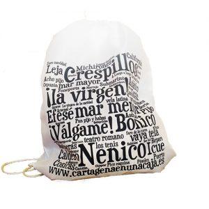 mochila palabras cartageneras - Cartagena en una Caja